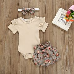 Clothes For Babies - Newborn Baby Girl Outfits Clothes Tops Romper + Floral Shorts Pants Set Baby Outfits Newborn, Baby Girl Newborn, Baby Boy Outfits, Kids Outfits, Baby Baby, Baby Club, Toddler Outfits, Halloween Costume Unicorn, Baby Girl Halloween