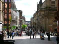 Buchanan Street,Glasgow's main shopping street, Scotland