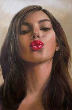 "Saatchi Art Artist Pascale Taurua; Painting, ""Kiss"" #art"