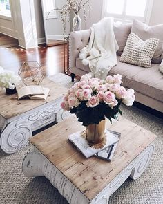 Scroll-accented tables, textured throw pillows and fresh blooms, we're falling asleep to sweet @liketoknow.it.home dreams care of @cellajaneblog   Get ready-to-shop #LTKhome details with www.LIKEtoKNOW.it    http://liketk.it/2ptSC #liketkit