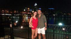 Standing in front of the beautiful city of Cincinnati...