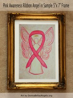 Pink Awareness Ribbon Breast Cancer Guardian by AwarenessGallery