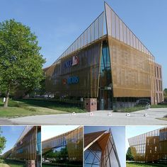 HAtrick Hasselt: gold and copper colored stainless steel mesh - Hasselt, Belgium - HAVER & BOECKER OHG