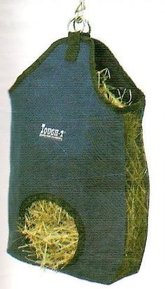 MINI MINIATURE HORSE Canvas Hay Bag Tote, Green by JT. $12.50. HARD TO FIND MINIATURE HORSE TACK !  This is a great canvas hay bag tote for mini horses. Cotton canvas with contrasting nylon web trim. Mesh gussets.Colors:Black, Navy, Red, Purple, and Green.  Size:Mini Horse. Save 19%!