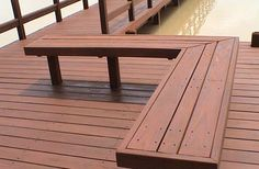 fence and deck stain color and bench option