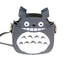 Kawaii Girls' Cartoon Shoulder Bag Crossbody Bag Anime Totoro Product Grey White #Totoro #ShoulderBag