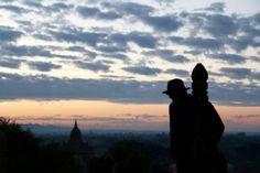 The sun rising over Low ka Oushang temple in Bagan, Myanamar. | photo by Lauren Ettinger fllitfloatflyaway.com