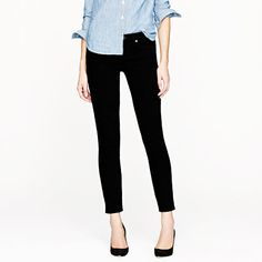 "The search for the perfect black skinny jean stops here. <ul><li>Sits lower on hips.</li><li>Fitted through hip and thigh, with a superskinny, straight leg.</li><li>28"" inseam.</li><li>11 1/2"" leg opening (based off size 28).</li><li>Cotton with a hint of stretch.</li><li>Traditional 5-pocket styling.</li><li>Machine wash.</li><li>Import.</li><li>The nature of this product may result in color transfer—we suggest laundering at home in your machine before wear.</li></ul>"