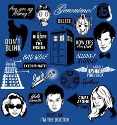 Doctor Who Quotes by Tom Trager, via Flickr