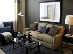 Brown Living Room Furniture Design, Pictures, Remodel, Decor and Ideas - page 28 Small Living Room Layout, Small Living Room Furniture, Beige Living Rooms, Room Furniture Design, Living Room Color Schemes, Small Living Rooms, Living Room Sofa, Living Room Interior, Living Room Designs