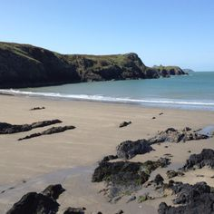 The stunning beach at St David's, Wales. St Davids is an amazing place to visit if feels so mystic and magical. Loads of fab places to camp nearby too.