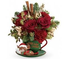 cup flower arrangement
