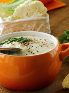 Dukan diet 558094578793318610 - Cauliflower Soup Source by Aga Recipes, Cooking Recipes, Vegetarian Cooking, Dukan Diet Recipes, Healthy Recipes, Cauliflower Soup Recipes, Soup And Salad, Soups And Stews, Food And Drink