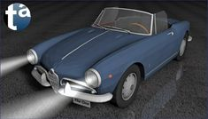 498 - TAEVision 3D Mechanical Design Automotive Fashion NY NYC CITY OF DREAMS 'THE ONE' SYMPHONY AlfaRomeo Giulia Spider GiuliaSpider 1963 (Camera A)