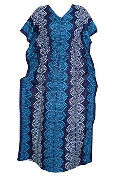 Women's Boho Caftan Cover up Blue Printed Hippie Maxi Kaf... https://www.amazon.com/dp/B01IY60YMK/ref=cm_sw_r_pi_dp_QxwMxbYVJP5K8