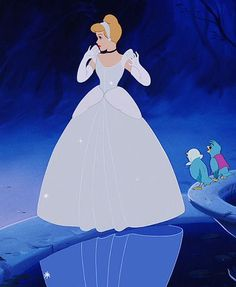 Cinderella - Walt Disney - A dress cleans up but being a princess comes from within and her dress is white. Walt Disney, Disney Pixar, Disney Nerd, Disney Villains, Disney Girls, Disney Animation, Disney Cartoons, Disney Magic, Disney Characters