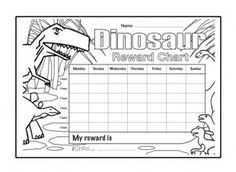 Download and print these special reward charts, which can be personalised and coloured in. They also offer a great way to incentivise and reward your little one, and stickers can be used to make this dinosaur reward chart more fun!