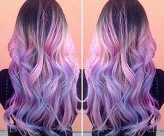 Αποτέλεσμα εικόνας για blue pink hair ombre