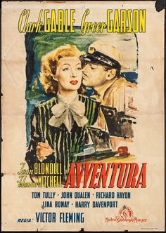 Adventure (MGM, Late 1940s). First Post-War Release Italian 4