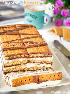 lingotto di biscotti is part of Desserts - Bakery Recipes, Dessert Recipes, Biscotti, Torta Angel, Creme Brulee French Toast, My Favorite Food, Favorite Recipes, Biscuit Bar, Sweet Recipes