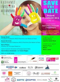 """""""Ridiamo emozioni ai bambini"""", Gaetano Pesce, Willow e Marco Lodola, per il Policlinico San Matteo di Pavia"""
