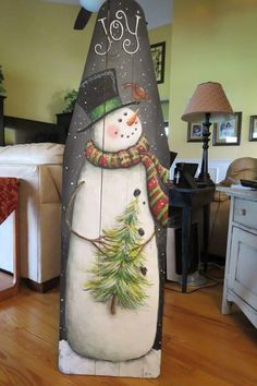 snowman painted on a wooden ironing board. - snowman painted on a wooden ironing board. – # snowman painted on a wooden ironing board. Christmas Wood Crafts, Primitive Christmas, Christmas Snowman, Rustic Christmas, Christmas Projects, Christmas Ornaments, Painted Ironing Board, Painted Boards, Vintage Ironing Boards