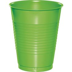 Touch of Color Fresh Lime Green 16 oz Solid Color Disposable Plastic Cups…