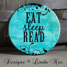 EXCLUSIVE to my shop  EAT Sleep READ with by DesignsbyLindaNeeToo, $1.50