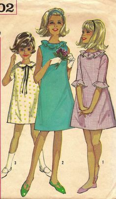 The necklines of teen girls were of a ruffled design, or wide with scalloped shaped edges. The necklines on the clothing have been lowered, and were no longer covering the whole neck like the clothes of the 1920's.