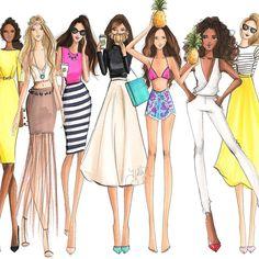 Holly Nichols illustration. Squad Goals. (Shop link for each of the girls in bio) #fashionsketch #fashionillustrator #fashionillustration #boston #bostonblogger #illustration #illustrator #etsy #prints #copicart