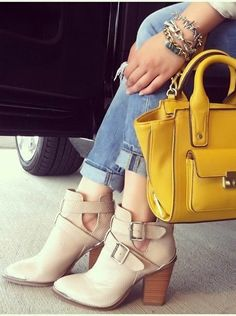 Blush Buckle Ankle Boots ♥