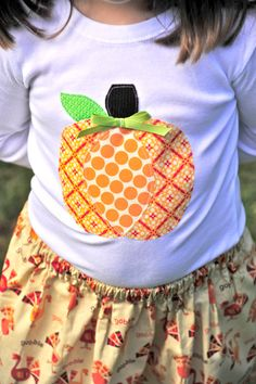 Adorable Pumpkin Applique