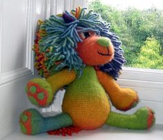 « Marlion » Lion feutré au Crochet grand Amigurumi -