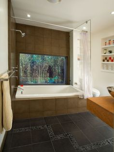Bathroom Natural Stone Gray And White Showers Design, Pictures, Remodel, Decor and Ideas - page 8