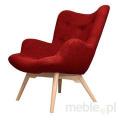 TUTUBI fotel tapicerowany - czerwony, Scandinavian Style Design - Meble
