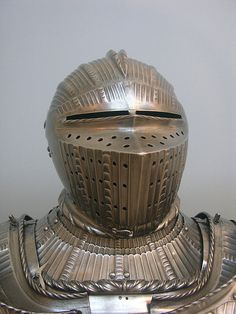 16th century armet helmet from the man-at-arms' harness   Flickr - Photo Sharing!