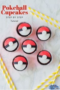 The Pokemon Detective Pikachu Movie is in theaters this Friday! If you're planning a Pokemon-inspired watch party or birthday celebration, these Pokeball 8th Birthday Cake, Boy Birthday, Birthday Parties, Birthday Celebration, Pokemon Birthday Cake, Cupcake Tutorial, Diy Tutorial, Pokeball Cupcakes, Pokemon Party