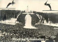 Holmenkollen under OL i Oslo 1952 Postkort:Abel