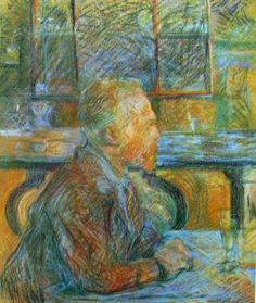 """""""Ritratto di Vincent Van Gogh""""; Henri de Toulouse-Lautrec, pastello su carta, conservato al Van Gogh Museum, Amsterdam."""