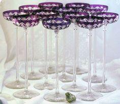 19th century Baccarat Champagne Glasses:  Amazing