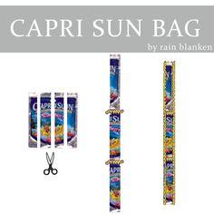Make a Capri Sun Bag: Make the Handles