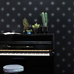 Pampille wallpaper from Osborne and Little - available to buy online here at Tangletree Interiors - The UK's largest online supplier of Designer Wallpaper, Fabric and Paint. Metallic Wallpaper, Wall Wallpaper, Osborne And Little Wallpaper, Old Pianos, Holographic Foil, Piano Room, Wallpaper Online, Key To My Heart, Formal Living Rooms