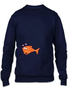 fish 22 blue Crewneck Sweatshirt