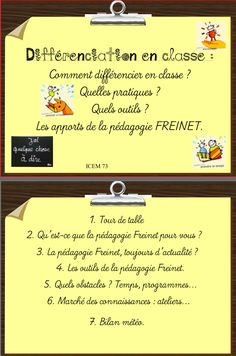 For when my French becomes more fluent: Freinet : animation pédagogique autour… French Teacher, Teaching French, French Classroom, School Classroom, Ontario Curriculum, School Organisation, Classroom Management Tips, Dream School, Differentiated Instruction