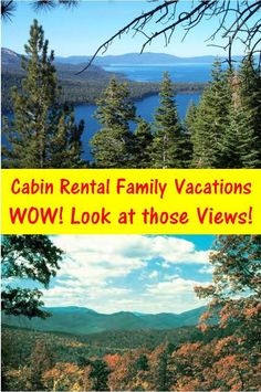 Find a Cabin Rental for Your Next Family Vacation. These are the views you can have from a Cabin Rental. Here is a list of hundreds of rentals from across the country. Cabin Rentals, Vacation Rentals, Places To Rent, Some Pictures, Road Trip, Mountains, Country, Travel, Viajes