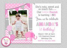 Elephant Birthday Invitation Party Printable On Etsy 1500 First