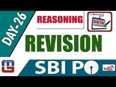 REVISION   REASONING   DAY - 26   DIGITAL CLASS   SBI PO 2017