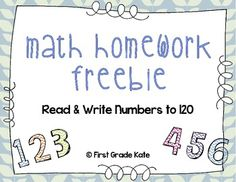 FREEBIE - Quick way for parents to help their child practice reading & writing numbers to 120!