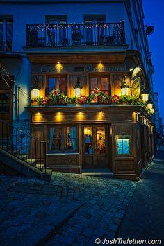 Cote, Paris .... would love to be inside this cafe!   ASPEN CREEK TRAVEL - karen@aspencreektravel.com