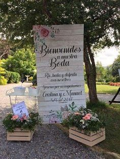 Simple Country Wedding Decorations 48 Ideas For 2019 Country Wedding Decorations, Rustic Wedding Signs, Wedding Welcome Signs, Wedding Scene, Our Wedding, Elegant Wedding, Wedding Cards, Charro Wedding, Hacienda Wedding
